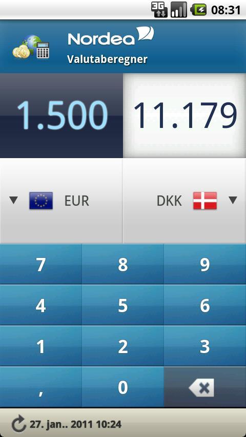 valutaomregner nordea